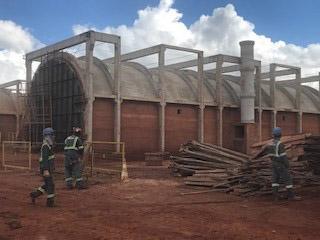 Obra ArcelorMittal em Bom Despacho/MG